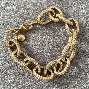 JCrew link bracelet with rhinestones